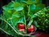 Kryddor och grönsaker i fotosöndag med tema Mat