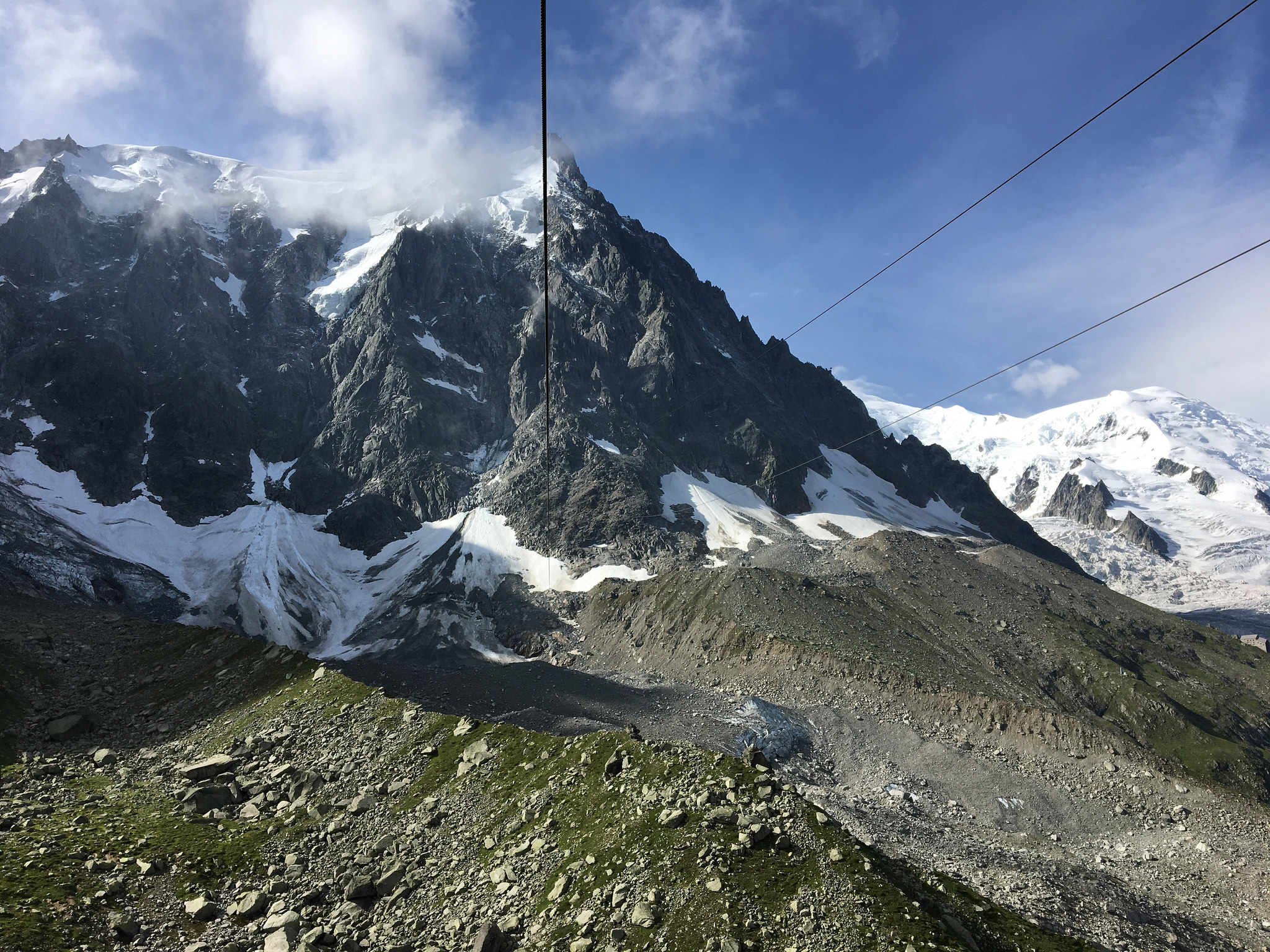 aguille du midi from middle station