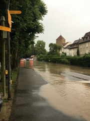 switzerland village rain