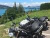triumph speed triple lac du annecy hillside
